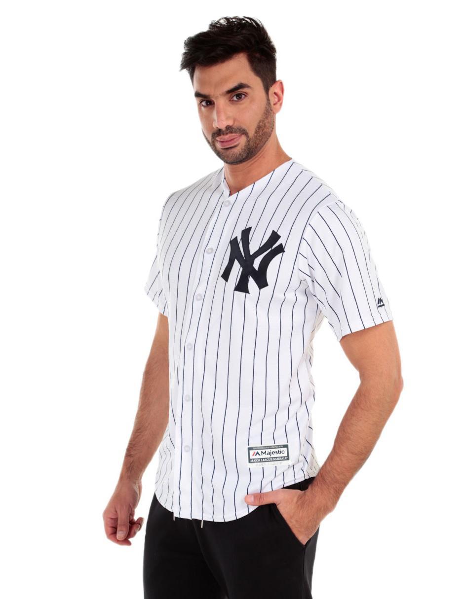 brand new 7a726 239cb Jersey Majestic Réplica New York Yankees Local para caballero