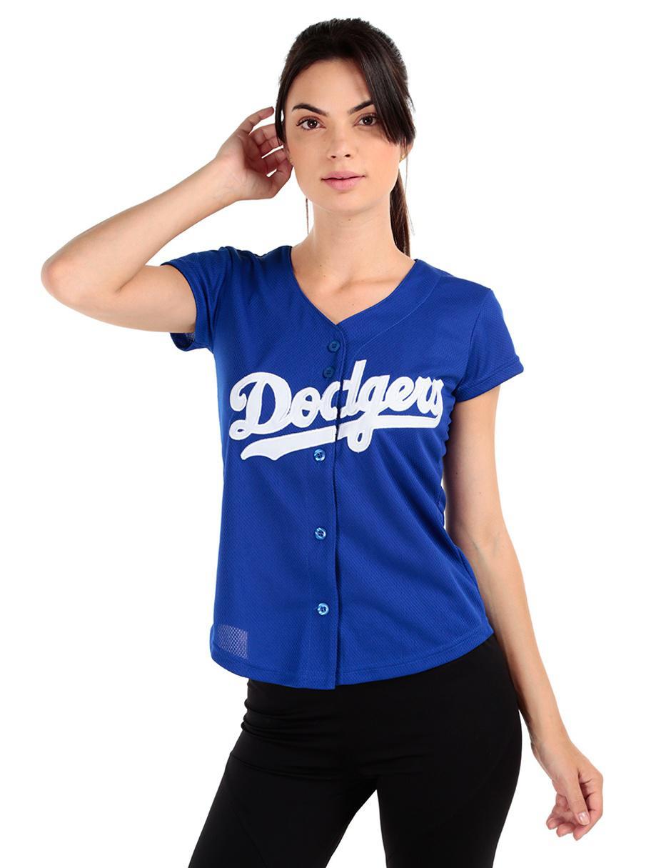 Jersey Majestic Aficionado Los Angeles Dodgers Visitante para dama f52f8c1bbd56d