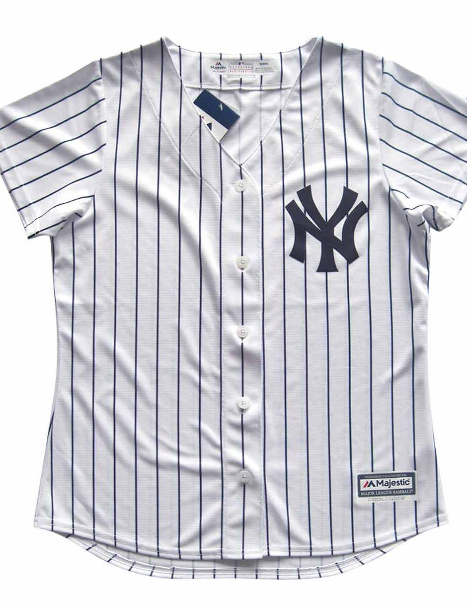 a4a309dacc2e Jersey Majestic Yankees de New York local para dama