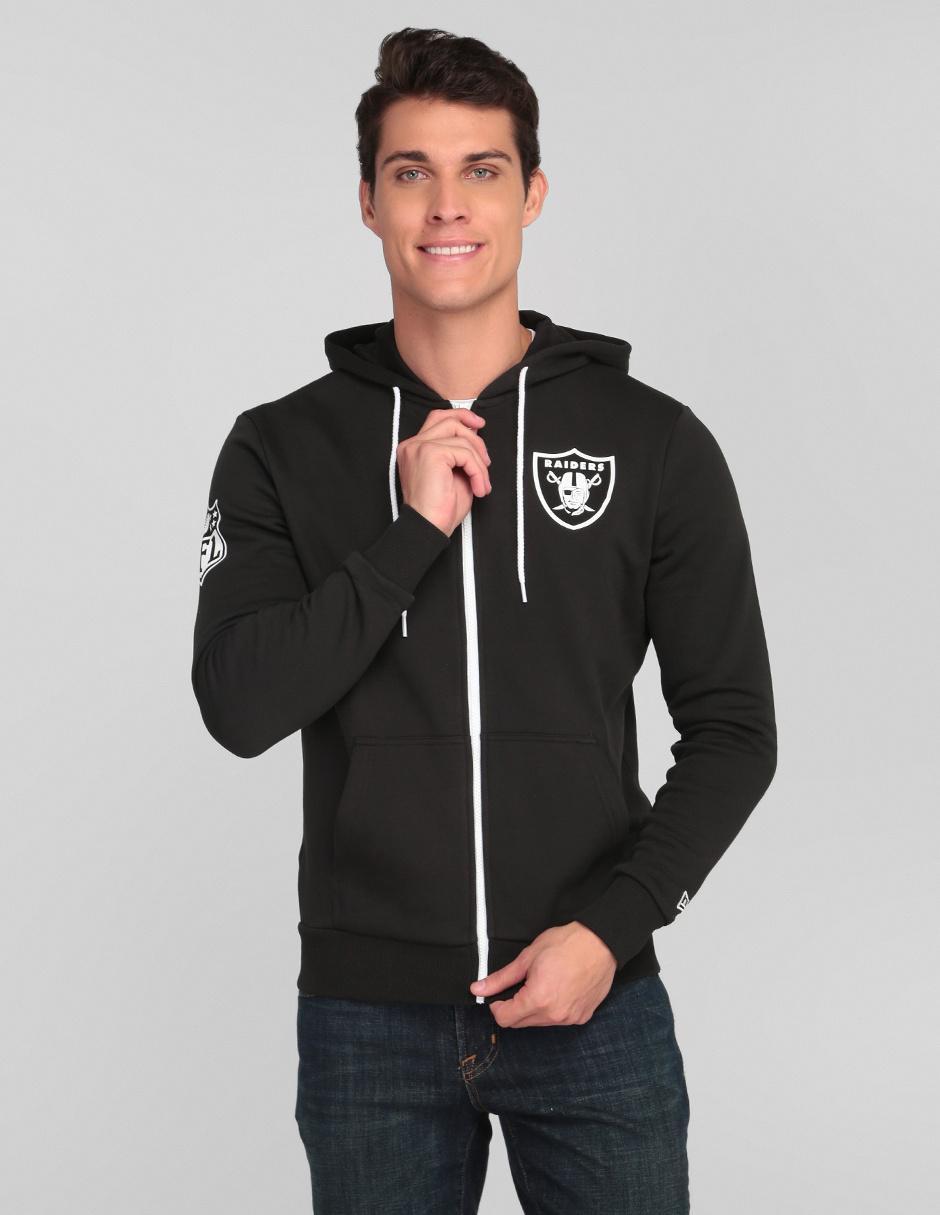 los Angeles baratas para la venta mejor amado Sudadera New Era Oakland Raiders fútbol americano para caballero